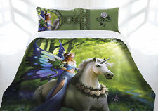 Anne Stokes Realm of Enchantment Unicorn Horse QUEEN Size Quilt Doona Cover Set