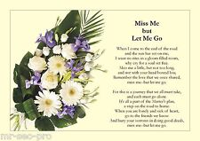 """Funeral Poem: """"Miss Me But Let Me Go"""" - Very Popular Funeral Reading"""