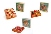 Traditions Wooden Travel Board Games Solitaire Draughts Chinese Checkers