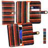 Vintage Stripes PU Leather Wallet Case Cover Sleeve Holder Fits Asus Phones