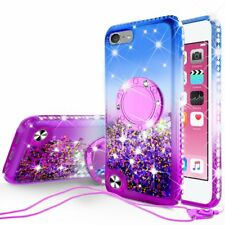 iPod Touch 5 6 7th Generation Cute Liquid Glitter Bling Phone Case Kickstand