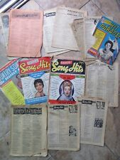 LG LOT OF COLORFUL Vintage Music Monthlies / Newspapers, 1953-61, Presley, Boone
