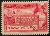 San Marino 1907 Sass. EX1 Nuovo * 100%