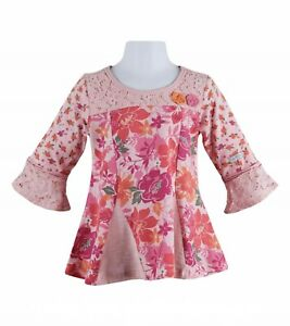 Naartjie  Lace Ovrlay Flower Tunic. Size 7
