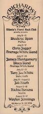 WAYLON JENNINGS / RICHIE HAVENS 1974 RICHARDS CLUB / ATLANTA / FLYER / HANDBILL