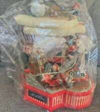 """Enesco Small World of Music """"Where's the Fire"""" NEW VINTAGE Musical Box"""