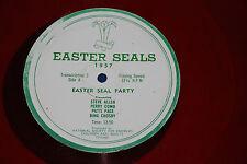 """16"""" Radio Transcription """"EASTER SEAL PARTY 1957"""" Bing Crosby, Perry Como, Allen"""