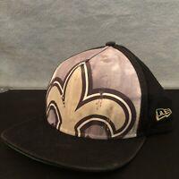New Era 9Fifty Snapback Hat/Cap Youth. New Orleans Saints. NFL Black hat