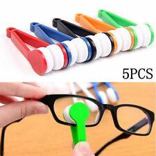 5X Mini Sunglasses Glasses Eyeglass Microfiber Cleaner Brush Cleaning Tool Wiper