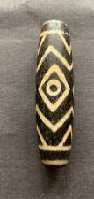 DZI BEAD, Tibet,  Buddha Tian Zhu China Asia Amulett 3 eyes中国西藏 etched(811)