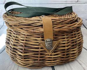Vintage Wicker Fishing Creel / Basket