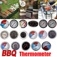 0-500℃ Barbecue Thermometer Gauge Stainless BBQ Smoker Grill Temperature