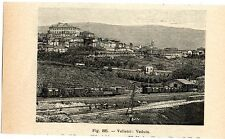 Stampa antica VELLETRI veduta panoramica campagna di Roma 1910 Old print