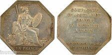 Paris, Compagnie d'Assurance contre Incendie, jeton argent, 1837 - 69