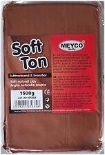 1,5 Kg Soft Ton  terracotta Modelliermasse lufthärtend, brennbar (3,00€/Kg)