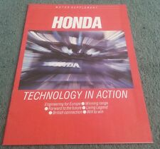 1986 HONDA MOTOR SUPPLEMENT BROCHURE CRX Civic Legend Prelude Aerodeck Accord