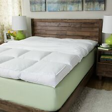 full size featherbed mattress topper pad 5inch 230 thread count bed cushion