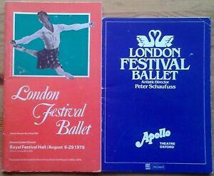 Individual London Festival Ballet programmes 1950s-1980s, Ldn & tour programme
