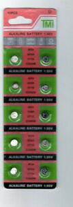 LOT 10 Piles de montre AG4 1,55v SR626SW-SR626-377-377A LR66 neuve sous blister
