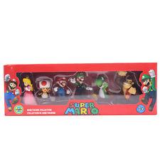 Super Mario Bros. Mario Luigi Princess Figures Dolls 6pcs Set PVC Toy Boxed3-8cm
