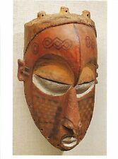 Postcard Africa Zaire Biombo People Tshimwana Mask Brooklyn Art Museum MINT