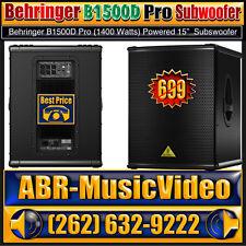 """Behringer EUROLIVE B1500D Pro 1400 Watt 15"""" POWERED Subwoofer"""