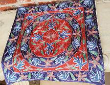 """SILK 15"""" ARI 100% Crewel Covered Chain stitch FLORAL Kashmir Pillow Cushion Case"""