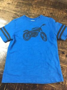 hanna Anderson boys Motorcycle 130 T-Shirt Size 8