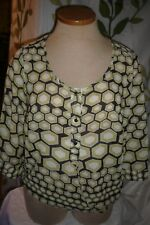 SHEER Overlay, Over BLOUSE, Layering TOP, Size XL, 16, 16W