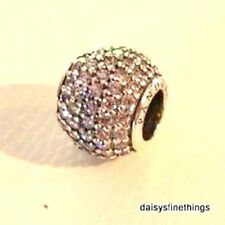 AUTHENTIC PANDORA SILVER CHARM LT PINK PAVE LIGHTS #791051PCZ