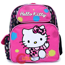 "Sanrio Hello Kitty Backpack 12"" Girls School Bag Leopard Pink Bow"