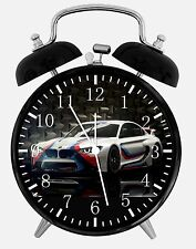 "BMW Race Car Alarm Desk Clock 3.75"" Home or Office Decor E347 Nice For Gift"