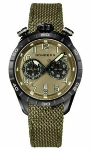 Bomberg Men's NS44CHPBA-207-9 BB-68 Racer 44mm Green Dial Watch