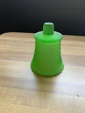 Green Frosted Hobnail Pegged Votive Cup/Candle Holder - Homco