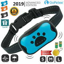 Anti Bark Collar Stop Dog Barking Sound & Vibration Adjustable S/M/L LED 3 Shell