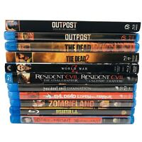 Zombie Horror Blu-ray Lot of 11 - Outpost 2/3 The Dead 1/2 Resident Evil Dead