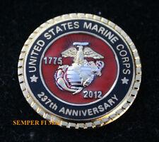 2012 US MARINE CORPS 227TH ANNIVERSARY LAPEL HAT PIN MARINES GIFT RETIREMENT WOW