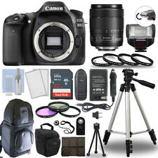 Canon EOS 80D Digital Camera + 18-135 USM Lens & TTL Flash 32GB Accessory Kit