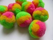 "2 "" Large Multi-Colors Light Green / Pink / Yellow DIY Pom Pom Ball- 12 pcs-M004"