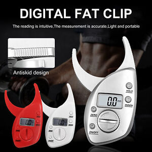 Portable Digital Display LCD Body Fat Caliper Skin Fold Monitor Analyzer Clip