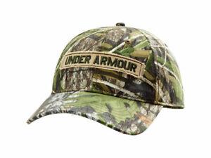 NEW! Under Armour Mens HeatGear Camo Cap Synthetic Blend Realtree-Camo [M/L]