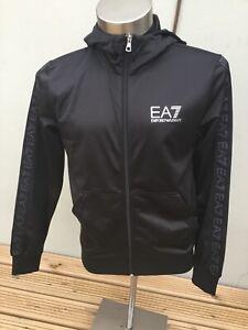 EA7 EMPORIO ARMANI BLACK HOODIE,SMALL