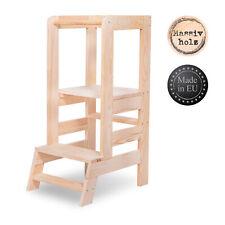 Lernturm für Kinder Learning Tower Lernstuhl Hochstuhl Tritthocke Natural 100 kg