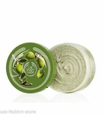The Body Shop OLIVE BODY SCRUB 200 ml brighter smoother skin exfoliating New