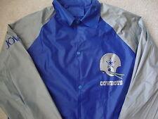 Vintage NFL Dallas Cowboys helmet logo blue gray Rain Jacket M