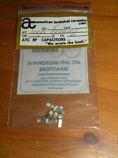 (5) ATC RF 0.4pF Capacitors Tol B 100B0R4BMS