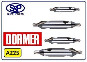 """DORMER A225 CENTRE DRILL BS1 1/8"""", BS2 3/16"""", BS3 1/4"""", BS4 5/16"""" & BS 5 7/16"""""""