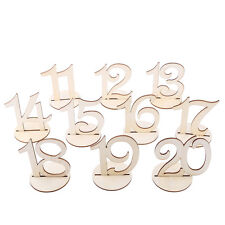 10pcs Table Sign Stand Numbers 11-20 Wood Christmas Wedding Birthday Decoration