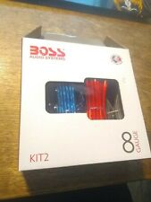 Boss Audio Systems KIT2 8 Gauge Amplifier Installation Wiring Kit - A Car... NEW