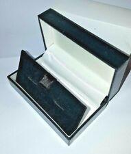 Luxury Black Leatherette & Velvet inside Cuff-links Cufflinks Jewellery Gift Box